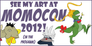 See my art at MomoCon 2012 (in the program)