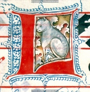 Manuscript L with a kitty inside